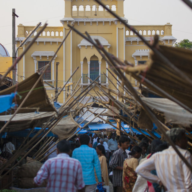 """""""People Doing Their Shopping At The Market Place In Mysore, India"""" stock image"""