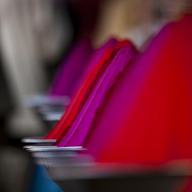 """Colorful Face Powder Used For The Holi Spring Festival, Mysore, India"" stock image"