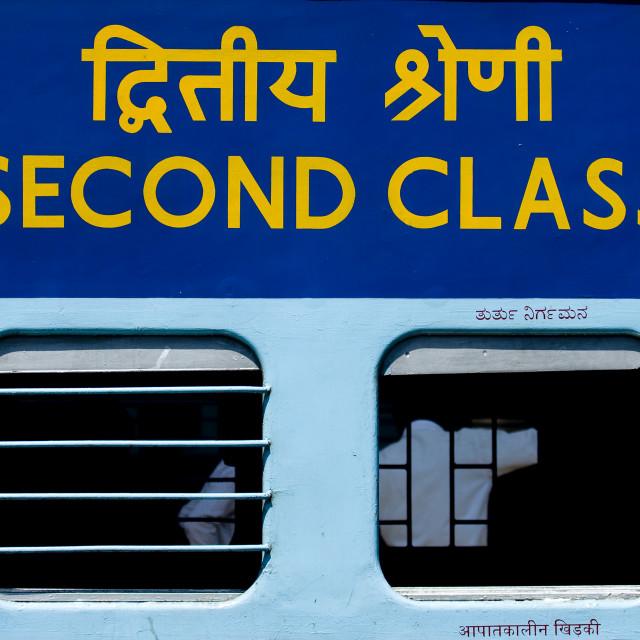 """""""Second Class Wagon Train, Mysore, India"""" stock image"""