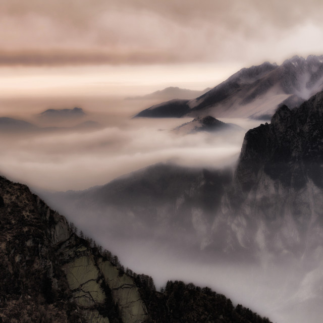 """Mystic mountains"" stock image"