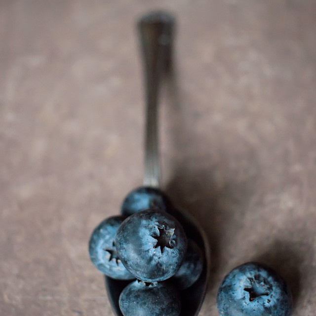 """Delicious ripe blueberries"" stock image"