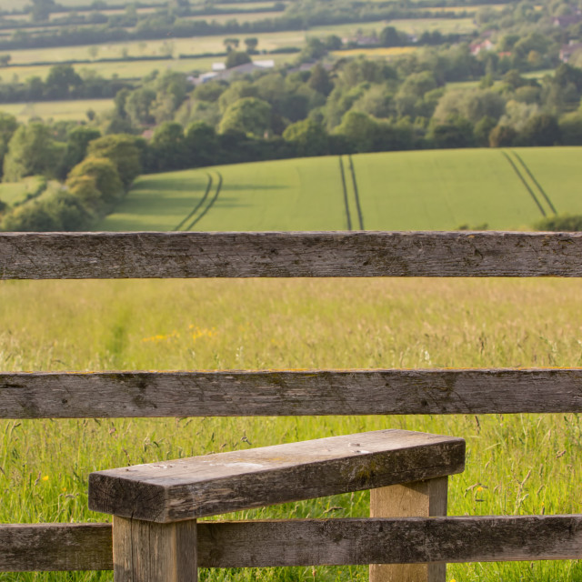 """Stile with Countryside view"" stock image"