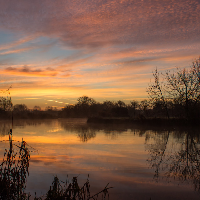 """Sunrise over River Thames"" stock image"
