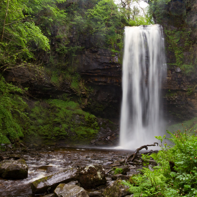 """Henrhyd Waterfalls in Brecon Beacons, Wales, UK"" stock image"