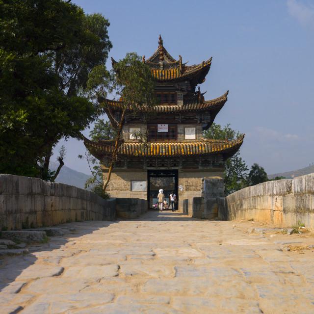 """""""Shuanglong Bridge, Jianshui, Yunnan Province, China"""" stock image"""