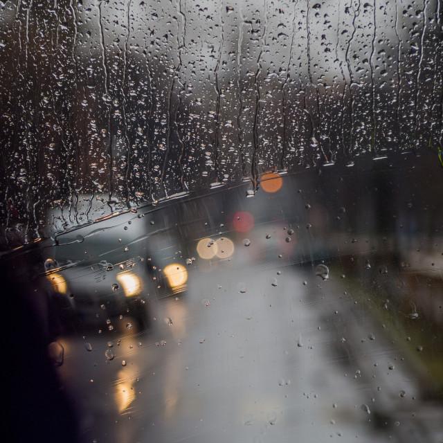 """Rainy Bokeh."" stock image"