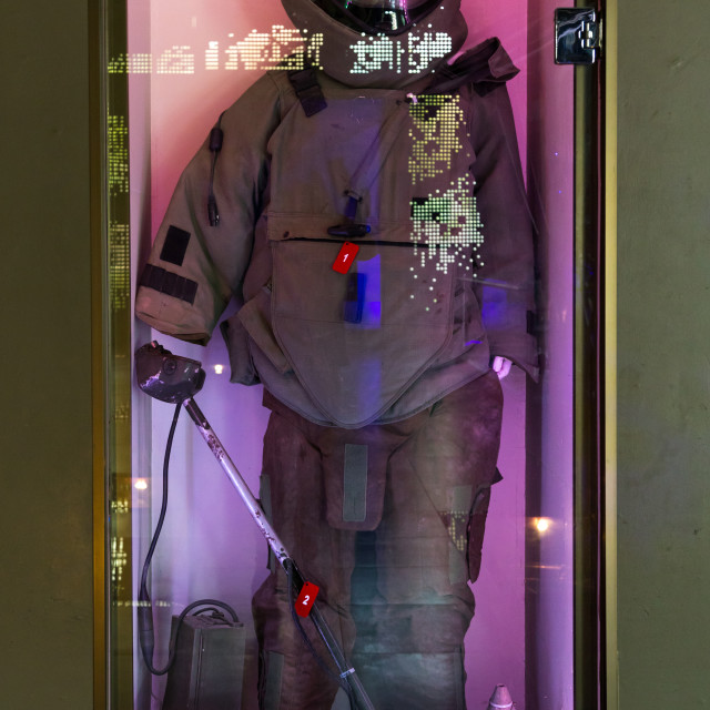 """""""Israeli mine protection in the war museum operated by Hezbollah called the..."""" stock image"""