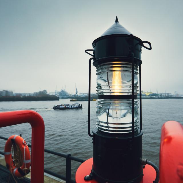 """""""Gloomy day in harbor"""" stock image"""