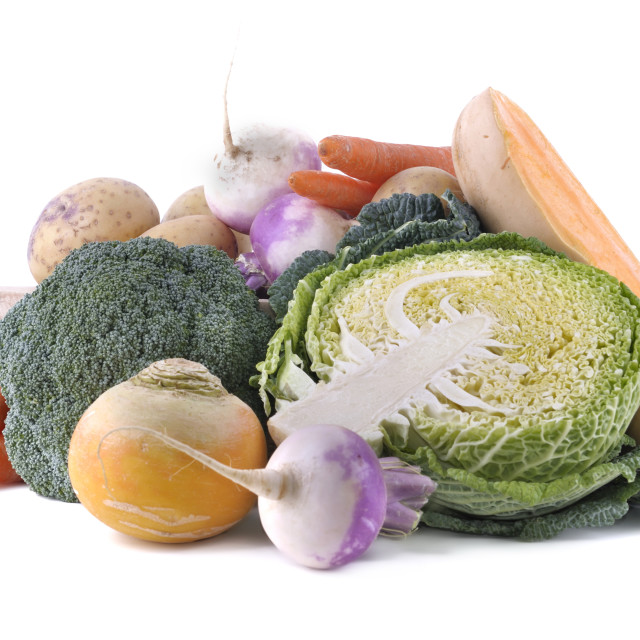 """""""green cabbage and other seasonal vegetables"""" stock image"""