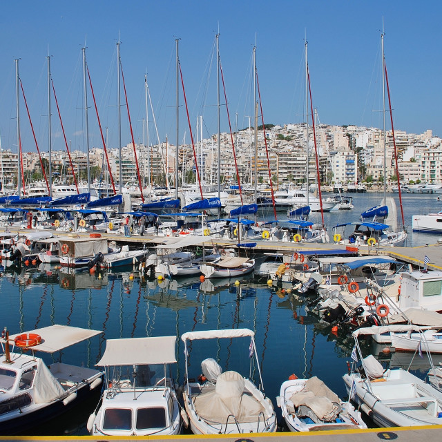 """Zea Marina at Piraeus"" stock image"