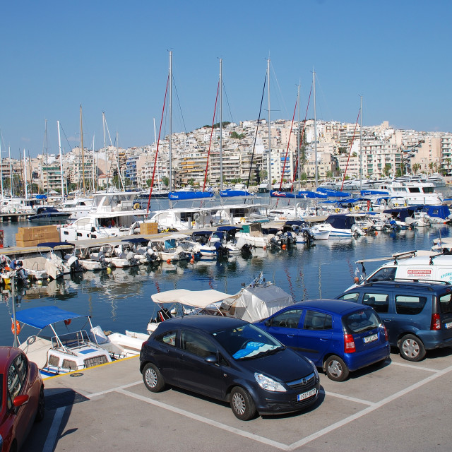 """The Zea Marina in Athens"" stock image"