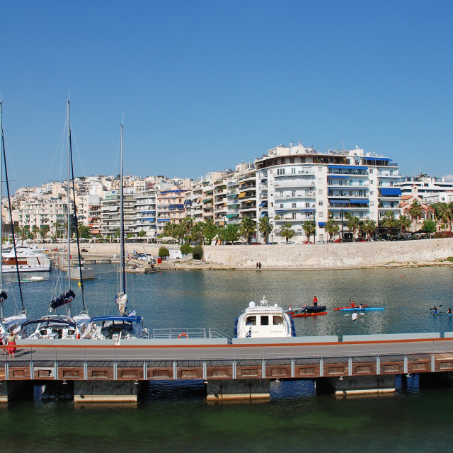 """Zea Marina in Piraeus"" stock image"