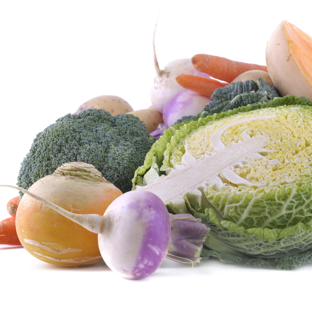 """""""green cabbage and other vegetables"""" stock image"""