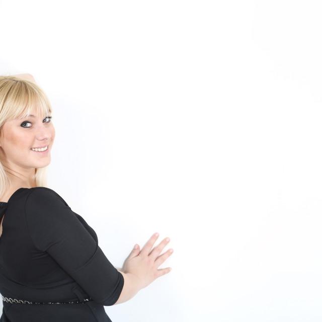 """""""Blonde woman indoor portrait"""" stock image"""