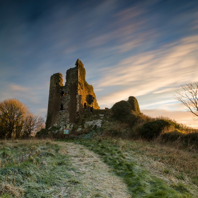 """Dunhill Castle, Co.Waterford"" stock image"