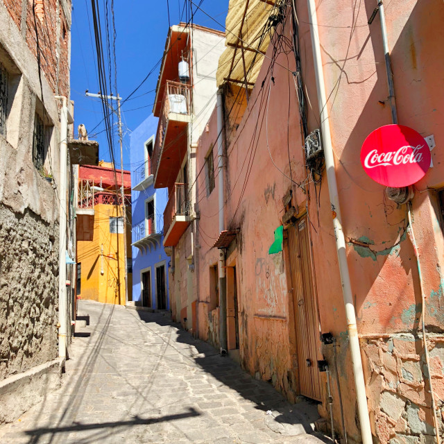 """Streets of Guanajuato"" stock image"