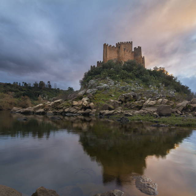 """Almourol castle"" stock image"