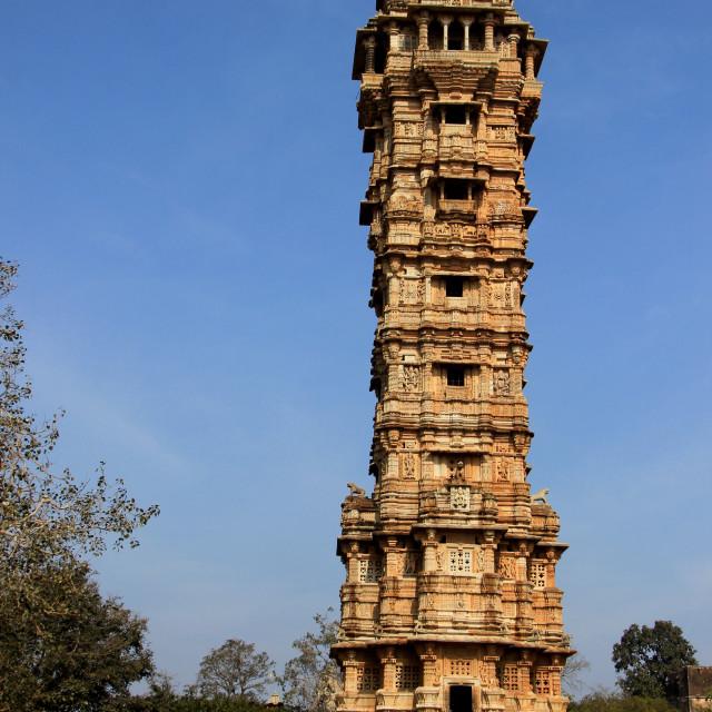 """Vijay Sthambh at Chittorgarh"" stock image"