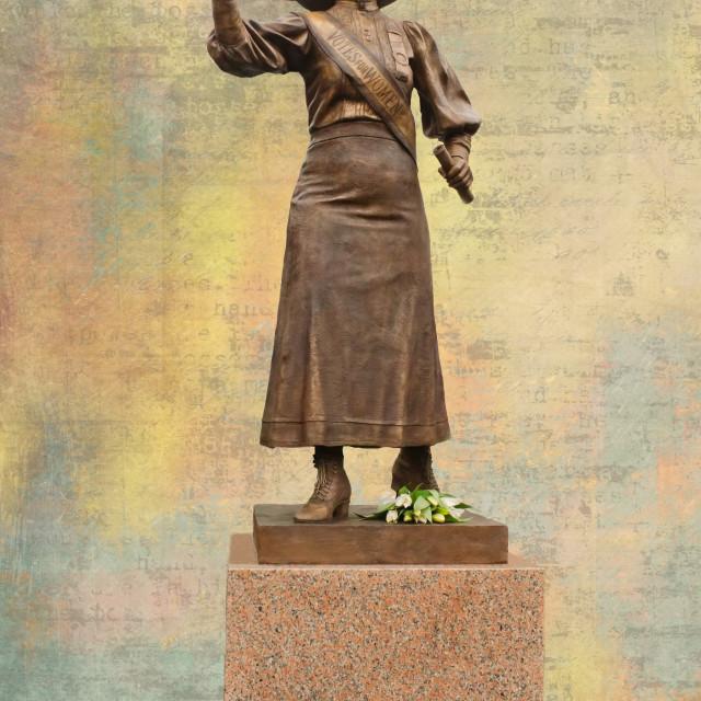 """Suffragette Alice Hawkins"" stock image"