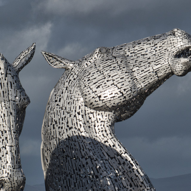 """The Kelpies"" stock image"