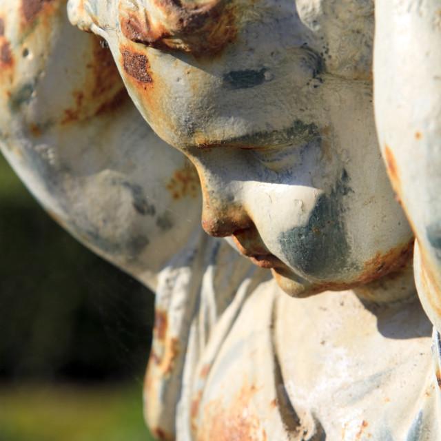 """Angelic garden statue"" stock image"