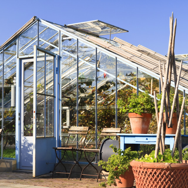"""Greenhouse in spring"" stock image"