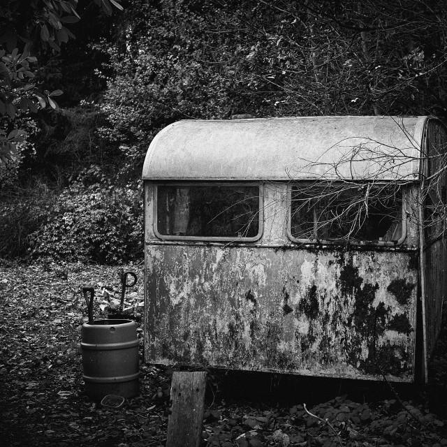 """""""Abandoned Caravan"""" stock image"""
