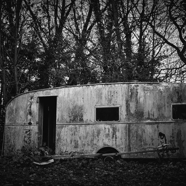 """""""Derelict Caravan"""" stock image"""