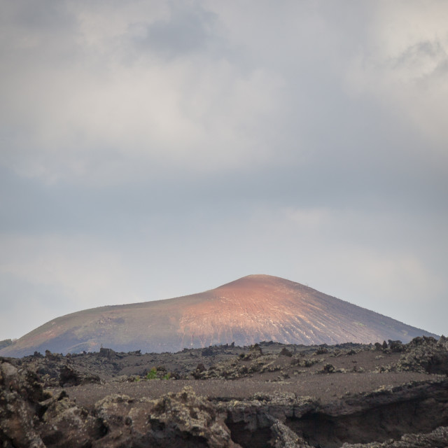 """Timanfaya national park on Lanzarote, one of Spain's Canary Islands"" stock image"