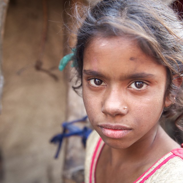 """Life in a slum II"" stock image"