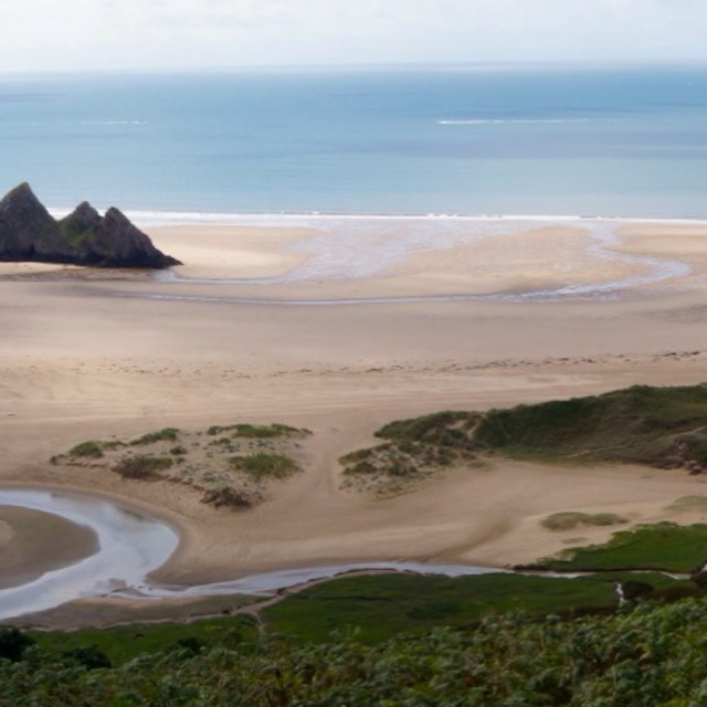 """""""The Gower - Welsh beauty"""" stock image"""