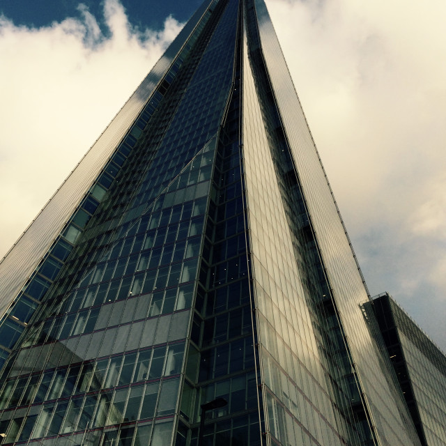 """""""The shard in winter"""" stock image"""