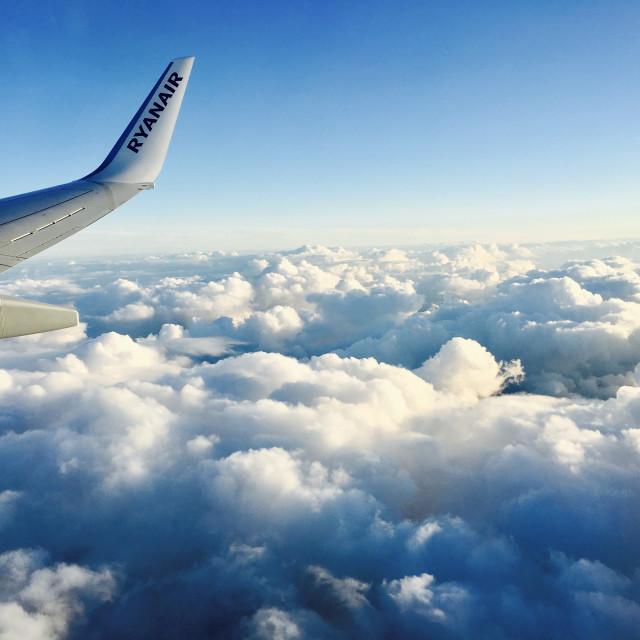 """""""Ryanair flight"""" stock image"""