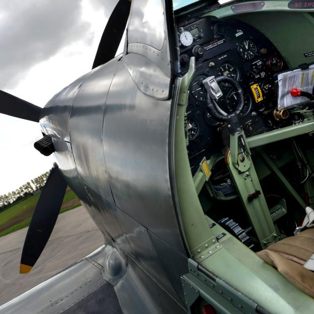 """""""Spitfire cockpit"""" stock image"""