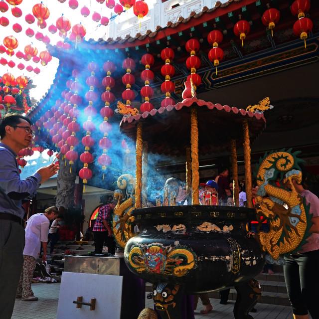 """Chinese New Year Praying"" stock image"