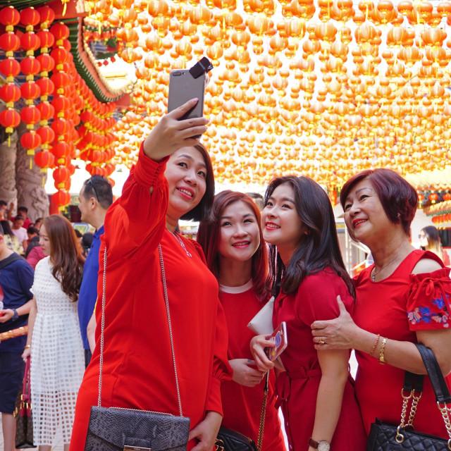 """Chinese New Year Selfie"" stock image"
