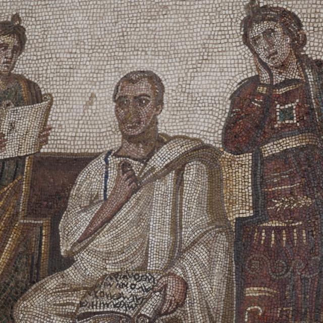 """""""Roman Mural"""" stock image"""