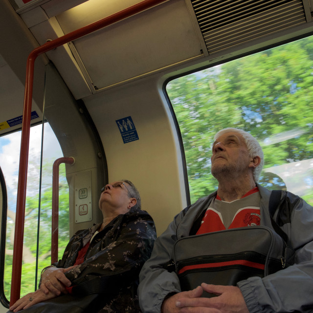 """Tube journey"" stock image"