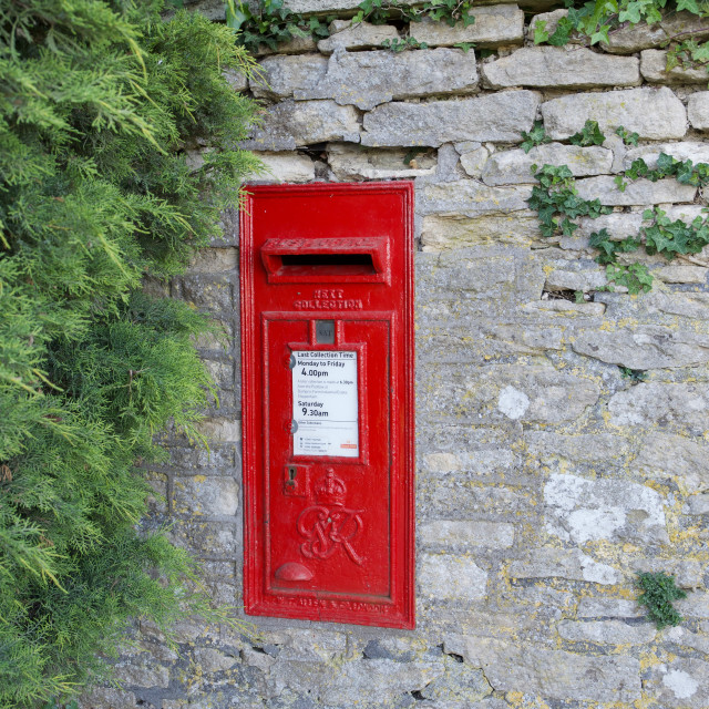 """red postbox"" stock image"