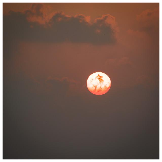 """Flaming Maldivian Sun"" stock image"