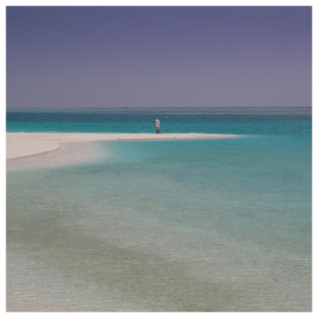 """Lone Beach Sweep"" stock image"