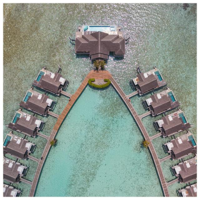 """Maldivian Water Bungalows"" stock image"