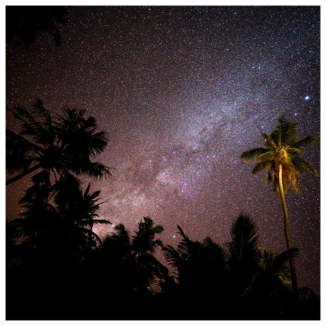 """Maldivian Milky Way"" stock image"