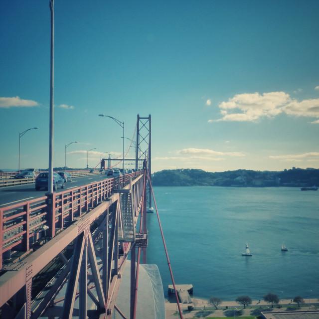 """Lisbon 25 of April Bridge"" stock image"