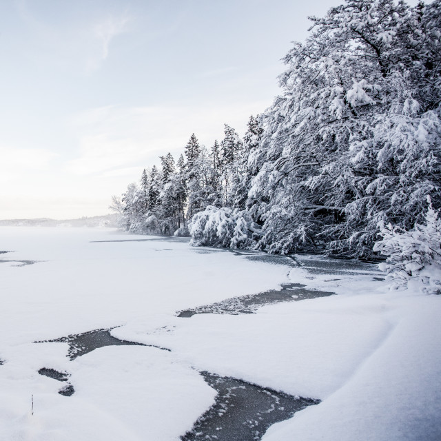 """Winter Lake"" stock image"