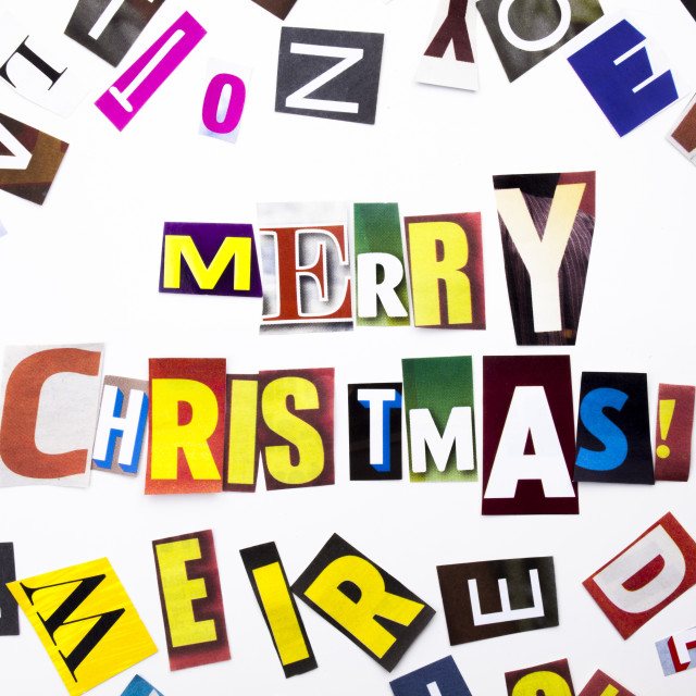 """""""A word writing text showing concept of Merry Christmas made of different..."""" stock image"""