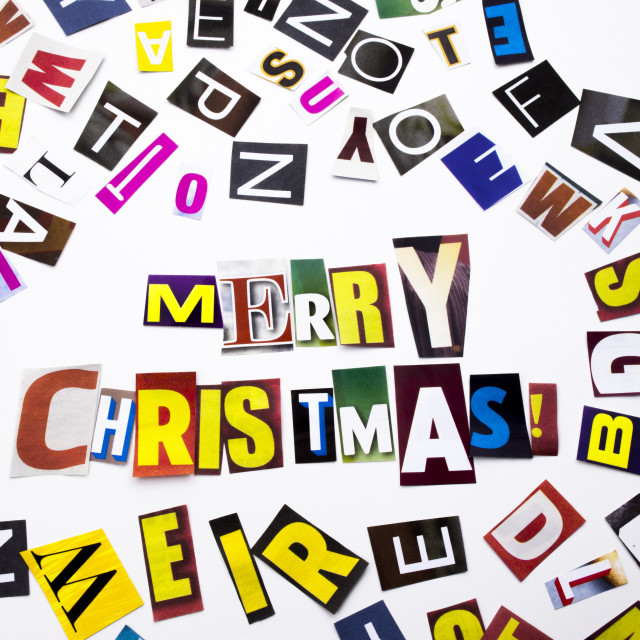 """A word writing text showing concept of Merry Christmas made of different..."" stock image"