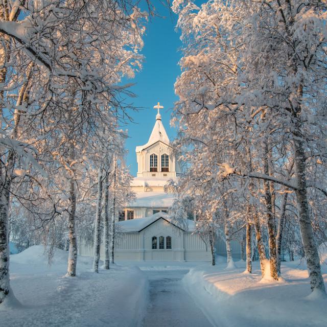 """Swedish church"" stock image"