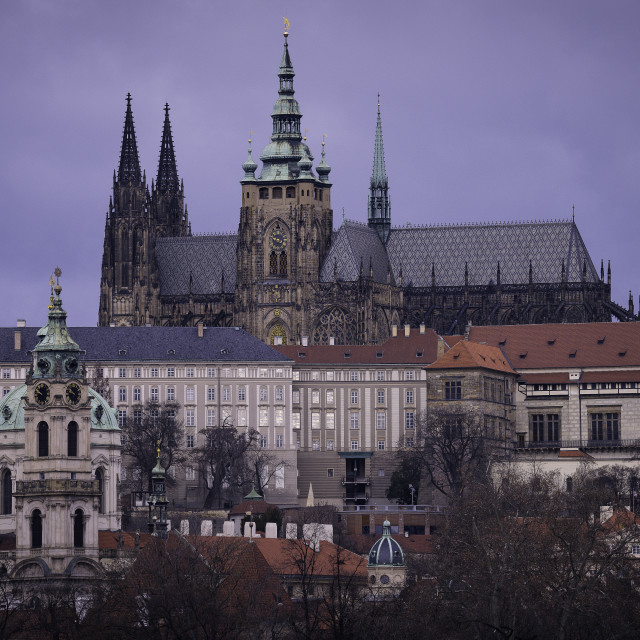 """The castle of Prague"" stock image"