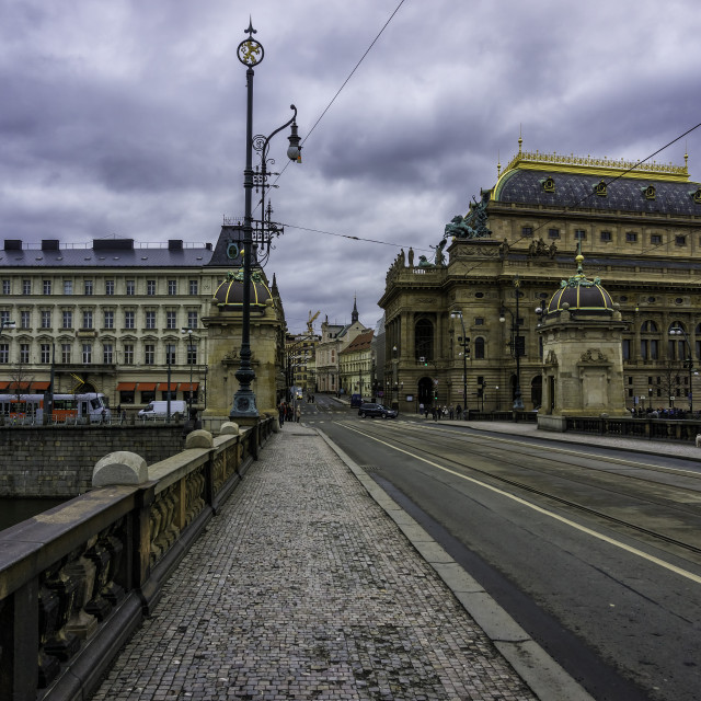 """""""The National Theatre of Prague"""" stock image"""